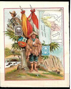 (Z) PERU VINTAGE CARD, NO STAMPS, VINTAGE MAPS