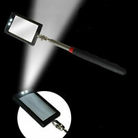 2 LED TELESCOPIC INSPECTION MIRROR LIGHT EXTENDING ANGLE VIEW 29cm To 89cm HUS