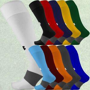 Under Armour UA Long Over the Calf Soccer Football Socks, Black, White, 1264790