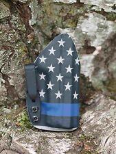 Kydex IWB holster for Glock 43 - U.S. Flag / Blue Line - InvisiHolsters