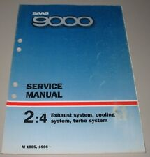 Service Manual Saab 9000 Exhaust System Cooling System + Turbo 1985 / 1986!