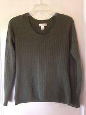 Kenar Cashmere Sweater Womens Medium Green