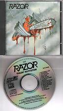 "RAZOR original CD ""Violent restitution"" 1988 on RC / Steamhammer"