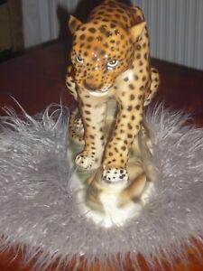 Älterer Leopard  Keramik