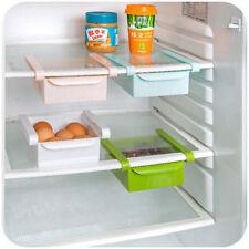Set Of 2 Multifuction Plastic Kitchen Refrigerator Storage Rack Fridge Shelf