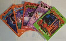 Goosebumps books lot of 5