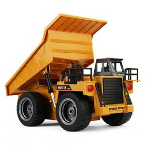 1:18 2.4G 6CH Remote Control Alloy Dump Truck RC Truck Big Dump RC Toy For Kids