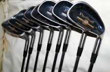 """WILSON """"PROSTAFF"""" SET OF 10 GOLF CLUBS,8 IRONS,2 DRIVERS,GOOD CONDITION."""