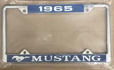 1965 Ford Mustang License Plate Frame - Ford Licensed - Chrome