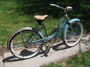 """Vintage Bicycle,  Monark 24"""" 1940 / 50's Girls Bicycle"""