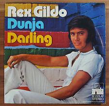 """Single 7"""" Vinyl REX GILDO - Dunja Darling 12225AT TOP ZUSTAND!"""