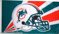 MIAMI DOLPHINS FLAG NEW 3x5 ft HELMET BANNER