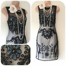 NWT Miss Selfridge Sequin Embellished Dress 20's Gatsby Flapper in  10 Art Deco