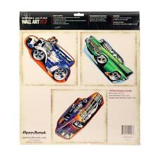 Removable wall art boys room hot rod cars decoration sticker decal set of 3 race