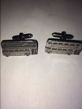 Bus W28 Pair of Cufflinks Made From English Modern Pewter
