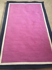 Pottery Barn Teen Capel Border Rug 5x8 - Orchid Pink, Royal Navy, & White - NEW!