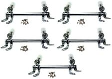 (5) ea Master Plumber 224-048 Chrome Finish Replacement Toilet Seat Hinges