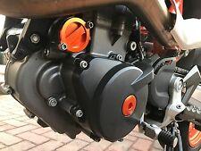 KTM 690 SMC SMCR OIL FILTER COVER ANODISED ORANGE - DUKE 125 200 390