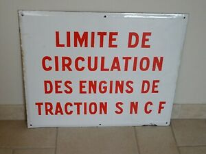 ancienne plaque emaillée SNCF wagon train gare old station