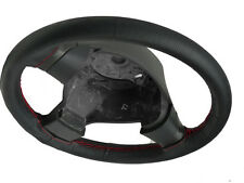 FITS HONDA CRX 87-98 BLACK PERFORATED LEATHER STEERING WHEEL COVER RED STITCHING