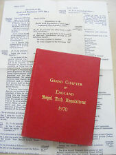MASONIC ROYAL ARCH REGULATIONS 1970