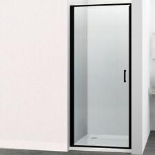 Porta Doccia Battente Swing per Box Nicchia Black Profilo Nero Cristallo 6 mm