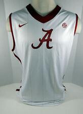 2011-12 Alabama Crimson Tide Blank # Game Issued White Jersey Bama00204