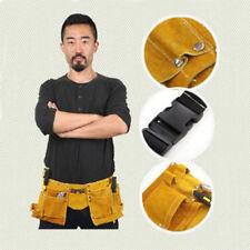 Multipurpose Leather Tool Belt Quick Release Buckle Carpenter Construction Pouch