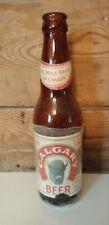 VINTAGE CALGARY BEER PAPER LABEL BEER BOTTLE