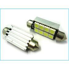 COPPIA LAMPADINA SILURO 41mm 8 LED 5050 - LUCI TARGA ABITACOLO - LAMPADE CANBUS
