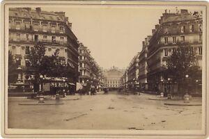 Paris Avenue De L' Opera Frankreich Fotografie Vintage Albumin c1880