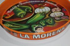 LA MORENA Metallic Serving Tray vintage tin mexican MEXICO charola Decorative