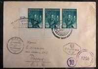 1950 Vienna Austria First Day Cover FDC To Prerov Czechoslovakia