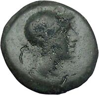 PERGAMON in MYSIA 281BC Athena Serpent Authentic Ancient Greek Coin i46962