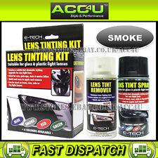 E-Tech Car Glass Plastic Tail Lamp Light Lens Smoke Black Tinting Tint Spray Kit