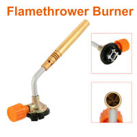Flamethrower Burner Butane Gas Blow Torch Ignition Welding Camping BBQ Baking UK