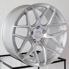 18x8 Aodhan LS002 LS2 5x114.3 35 Silver Machined Face Wheels Rims Set(4)