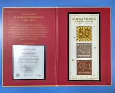 2015 SG50 Singapore Golden Jubilee Serialized M/S MNH 22K Gold Foil No: 214/888