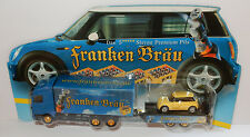GRELL HO 1/87 CAMION SEMI TRUCK TRAILER MB ACTROS FRANKEN BEER AUSTIN NEW MINI