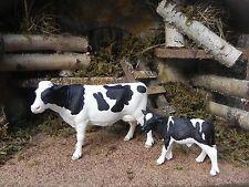 "Holstein Cow Calf Schhleich Figurines for 3.5"" Nativity Presepio Pesebre Vaca"