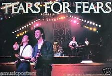 "TEARS FOR FEARS ""GROUP PLAYING IN CONCERT"" U.S. PROMO POSTER FROM THE 80'S"