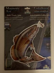 Rivers Edge Magnetic Art Fish Decal, Auto,Truck,Safe Magnetic Art,Removable