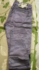 Pantaloni donna Met effetto raso lucido viola taglia 28