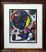 Joan Miro Vol 4 No V Original Lithograph Art Custom Framed Artwork Submit Offer!
