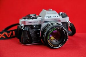 Pentax Super Program w/ Auto Chinon 50mm f/1.7 lens, manuals