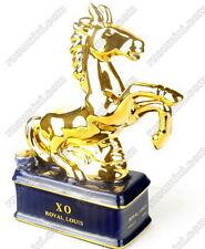 CXO-095-Rare Royal Louis XO mini bottle, gold horse shape