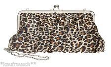Clutch Abendtasche Clip Leopardenmuster Leo Tasche Umhängetasche Lisbeth Dahl