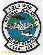 COLD WAR 1945 1995 SILENT SERVICE PATCH SUBMARINE US NAVY VETERAN GIFT SUB USS