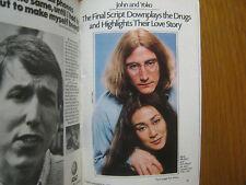1985 TV  Guide  (BARRY  MANILOW/JOHN  LENNON/YOKO  ONO/MARK  McGANN/KIM  MIYORI)