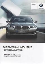 BMW 5er BERLINA f10 2012 MANUALE ISTRUZIONI BA